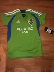 Nwt - Adidas Mls Seattle Sounders F.c Soccer Jersey Girl Youth Size-l Large