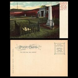 Vtg C1906 Postcard Fort Moultric Grave Of Indian Chief Oceola Charleston Sc A59