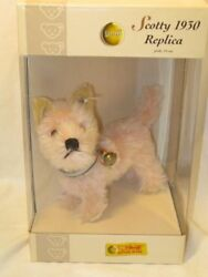 Used Dog Replica 1930 Pink Scotty Terrier Japan Limited 2005 Steiff Plush Doll