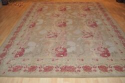 8and039 X 10and039 Handmade Hand-woven Wool Area Rug French Aubuson Design Siena Pm75