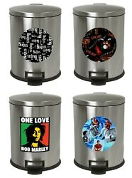 1.3 Gallon Oval Step Trash Can Music Band Artist Game Room Man Cave Theme Decal
