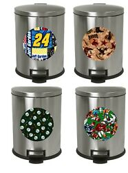 1.3 Gallon Oval Step Trash Can Traditional Professional Sports Team Theme Decal