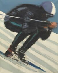 Pierre Doutreleau French, B. 1938 32 X 25 ½ Skier. Oil On Canvas Signed