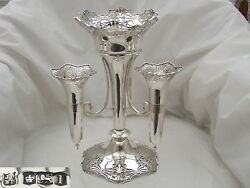 Rare George V Hm Sterling Silver Table Centrepiece 1928
