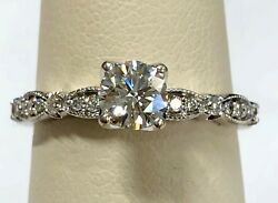 Love Story Vintage Style Engagement Ring .50ct Center .75cttw Retail 2,500.00