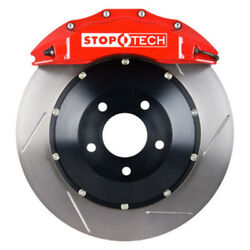 StopTech 08-09 Evo X Front BBK w Red ST-60 Calipers Slotted 355x32mm Rotors Pad