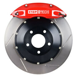 StopTech 04-07 STi Front Big Brake Kit 332X32MM with Silver Calipers Slotted Rot