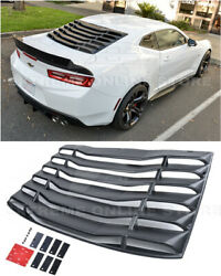 For 16-up Camaro Coupe Eos Performance Style Rear Window Louver Sun Shade Cover