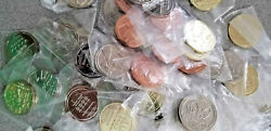 Lot Of 77 Pokemon Metal Coins Rare10bronze+51silver+13gold+3jetblack From Japan