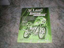 1975 1976 Bmw 900cc Cycle Picture Ad For Lester Cast Alloy Wheels Vintage