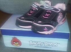 Angry Birds Girls Sneakers -sizes 111213 2 Pink And Black Shoes Choose Size