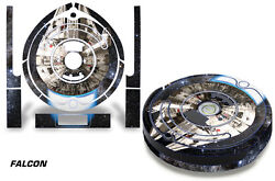 Skin Decal Wrap For Irobot Roomba 500/600 Series Vacuum Stickers Kit Falcon