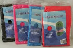 Lot Of 4 Mesh Laundry Bag 36x24 Great For Clothes, Toys, Beach Gear, Dorms New