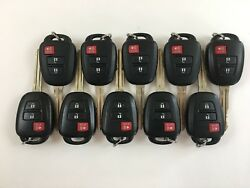 LOT OF 10 TOYOTA RAV-4 LE 13-18 KEY LESS ENTRY REMOTE OEM FOB USA FOB H-CHIP 8A