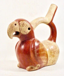 Pre-columbian Moche Two-chamber Parrot Vessel Ex Sothebys '80