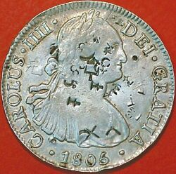 Mexico Spanish Colony 8 Reales 1806 Km 109 Contrastamp A+255id