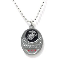 Marines Large Pendant Necklace 18218 New Military Trades Pewter Jewelry