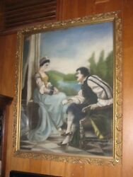 Antique Original Pastel, Man And Woman, 1920, Southern Artist, Tennessee, Sale