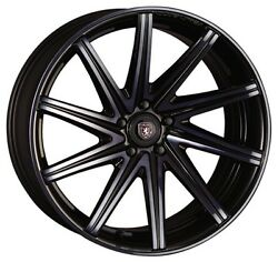 Crimson Linea Sport Rossi Wheels 19x8.0j +45 Dark Clear For Audi A3a4 From Japan