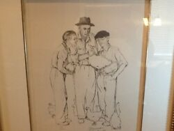 Norman Rockwell Liar Liar Lithograph Hand Signed 192/200 Very Rare