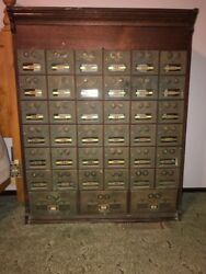 Large Vintage Corbin Cabinet Lock Post Office Box Cabinet Working Combinations