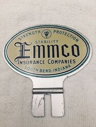 Metal License Plate Topper, Emmco Insurance South Bend Indiana