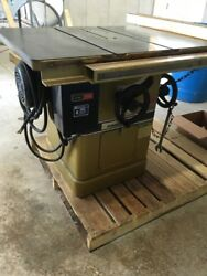 Used Powermatic 66 Table Saw, 5hp, 208-230/460v, 3 Phase Heavy Duty Guide
