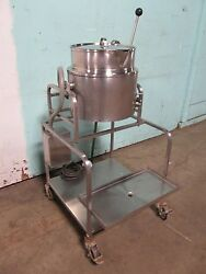 Groen H.d. Commercial 3ph. Electric 20qt. Steam Jacketted Tilting Kettle
