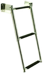 Seachoice 71231 Telescopic Transom Mount 3 Step Ladder Stainless Steel Boat