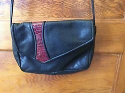 MacClary Leather Design Black Leather Cross Body Bag USA