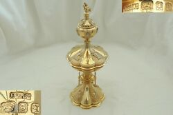 Very Rare George V Hm Sterling Silver Gilt Mermaid Wedding Cup And Cover 1931