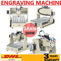 New! 3 Axis 300W 3020T Router Kits Wood engraving Milling Drilling Machine DHL