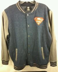 Superman Embriodered Snap Button Jacket Mens 2x