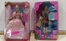 Rapunzel 1997 Barbie Doll Collectible 17646 And Ken Two Barbie Set