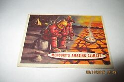 1957 Topps Space Cards - #77 Mercury's Amazing Climate