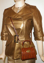 Louis Vuitton Leather Coat Mini Trench Jacket Uk 10 Limited Edition