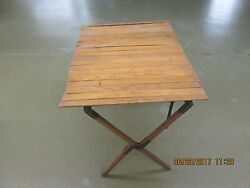 Vintage Automobile 1920and039s Era Touring Car Running Board Picinic Table
