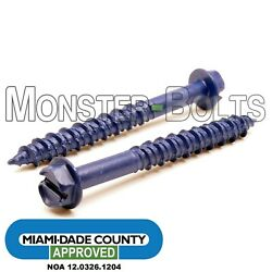 1/4 Tapking Indent Hwh Slot Concrete Screws Miami-dade County Approved Ruspert
