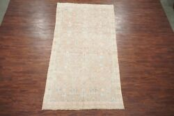 Antique 6X11 Cotton Agra Area Rug 1920s Hand Knotted Indian Carpet (5.11 x 11.1)
