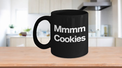 Cookie Mug Black Coffee Cup Funny Gift For Mom, Dad, Monster, Milk, Hot Cocoa
