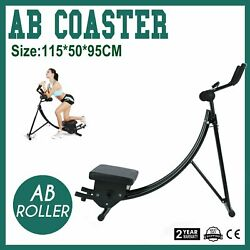 Ab Coaster Max Abs Muscle Abdominal Crunch Home Exercisers Fitness Machine Safe