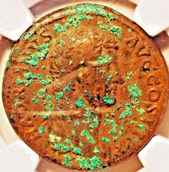 117-138 Ad Roman Empire Sesterius Ae Ngc Vf Rare Hadrian And Hispania