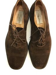 Mezlan Solana Menandrsquos Shoes Wingtips 9.5 Brown Suede Luxury Made In Spain