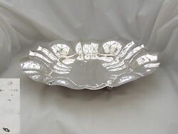 Stylish Italian Hm Silver 3 Footed Fruit Bowl R Miracoli