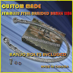 Buell Bmw Motorcycle Custom Made Stainless Steel 4 Brake Lines Hoses Hose Lines