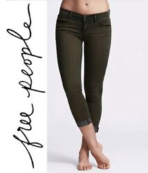 Free People Jeans - Maris Roller Crop Mid-rise Skinny Jeans Size 24 Nwt 68