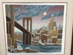 Vintage Print By Winifred Mckenzie Remarkable Quality Cityscape Woodblock Print