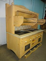 Commercial Custom Built 1 Hot 2 Cold + Dry Display Lighted Grab-n-go Station