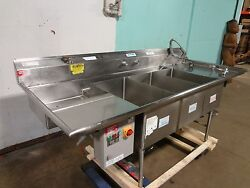 American Delphi Commercial H.d. 3 Compartment Sink W/sprayer Wand, Epc Ctrl Bx