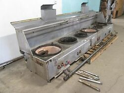 Restaurant Equip. Hd Commercial 154andfrac12w Nat. Gas 2 Jet/4 Ring Burners Wok Stove
